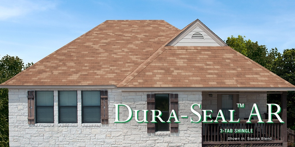 Dura Seal 3 tab shingles installed on Texas home's roof