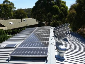 solar panels installed on residential roof