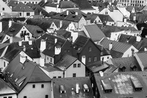 Houses and roof