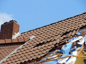 Damaged tile roof in Texas