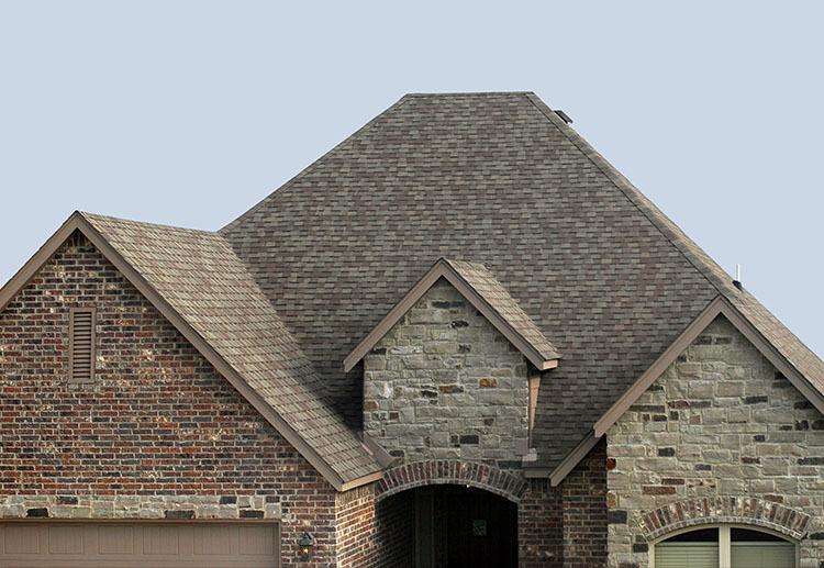 House in Frisco Texas after recieving a complex roof repair