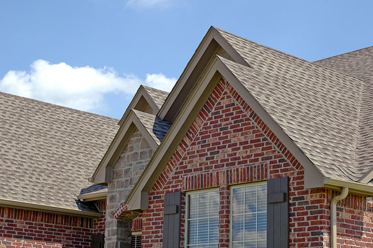 House in Southlake Texas after recieving a complex roof repair