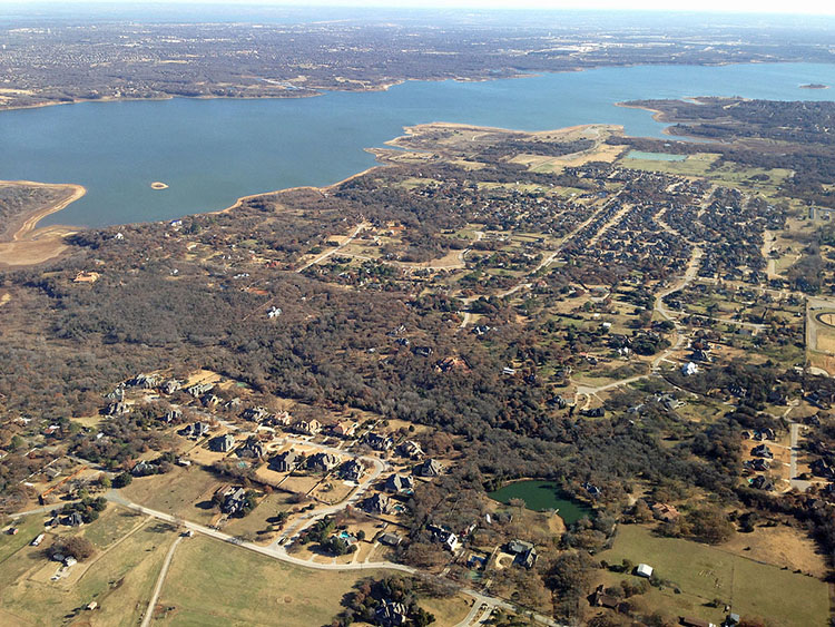 Ariel view of Southlake Texas